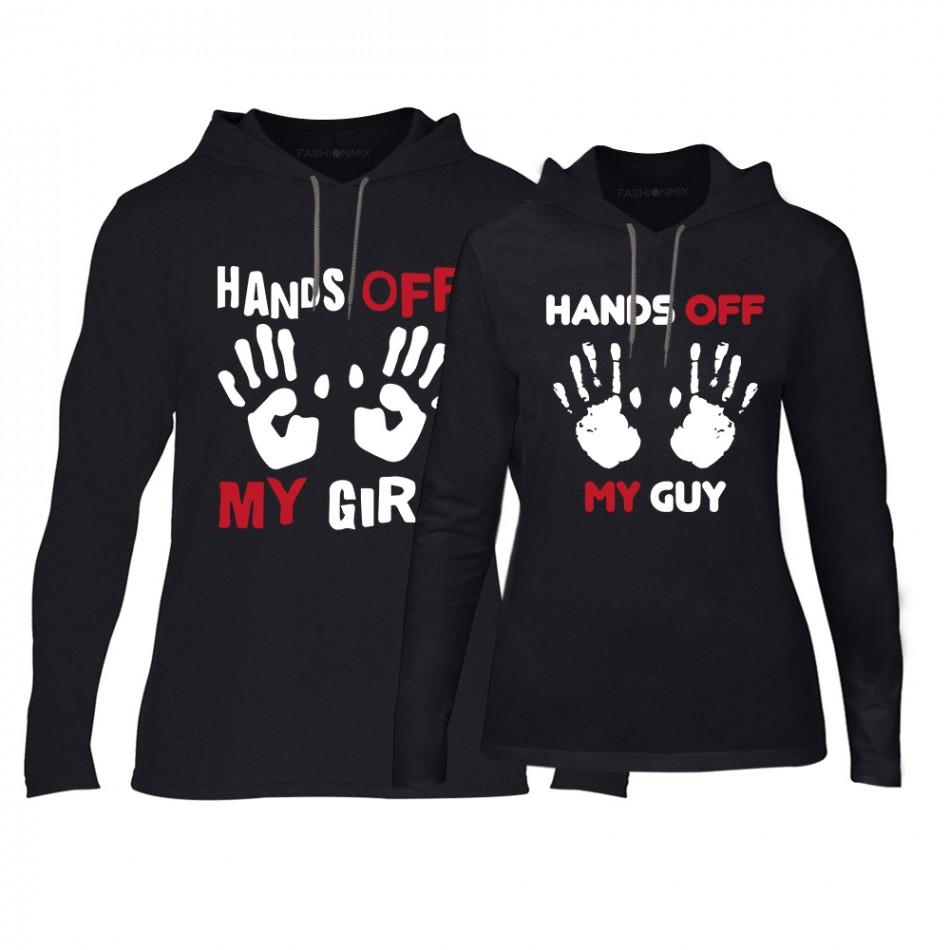 Φούτερ για ζευγάρια Hands Off μαύρο TMN-CPS-148