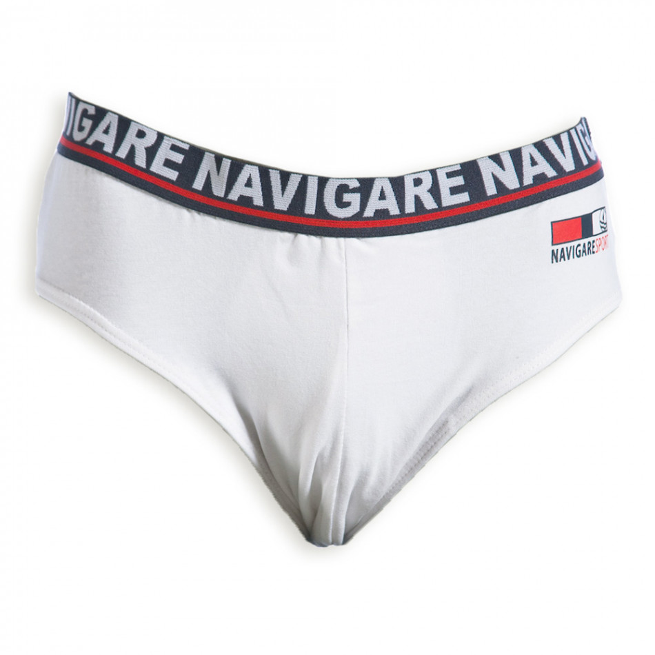 Ανδρικό λευκό σλιπ Navigare 324-1