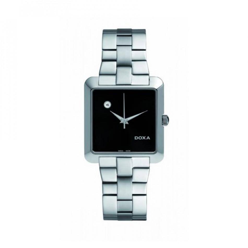 Ανδρικό ρολόι Doxa Grafic Quartz Black Dial  3501010110