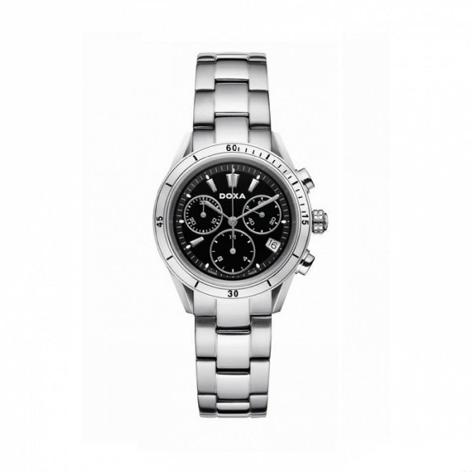 Ανδρικό ρολόι Doxa Trofeo Chronograph Black Dial  2781510110
