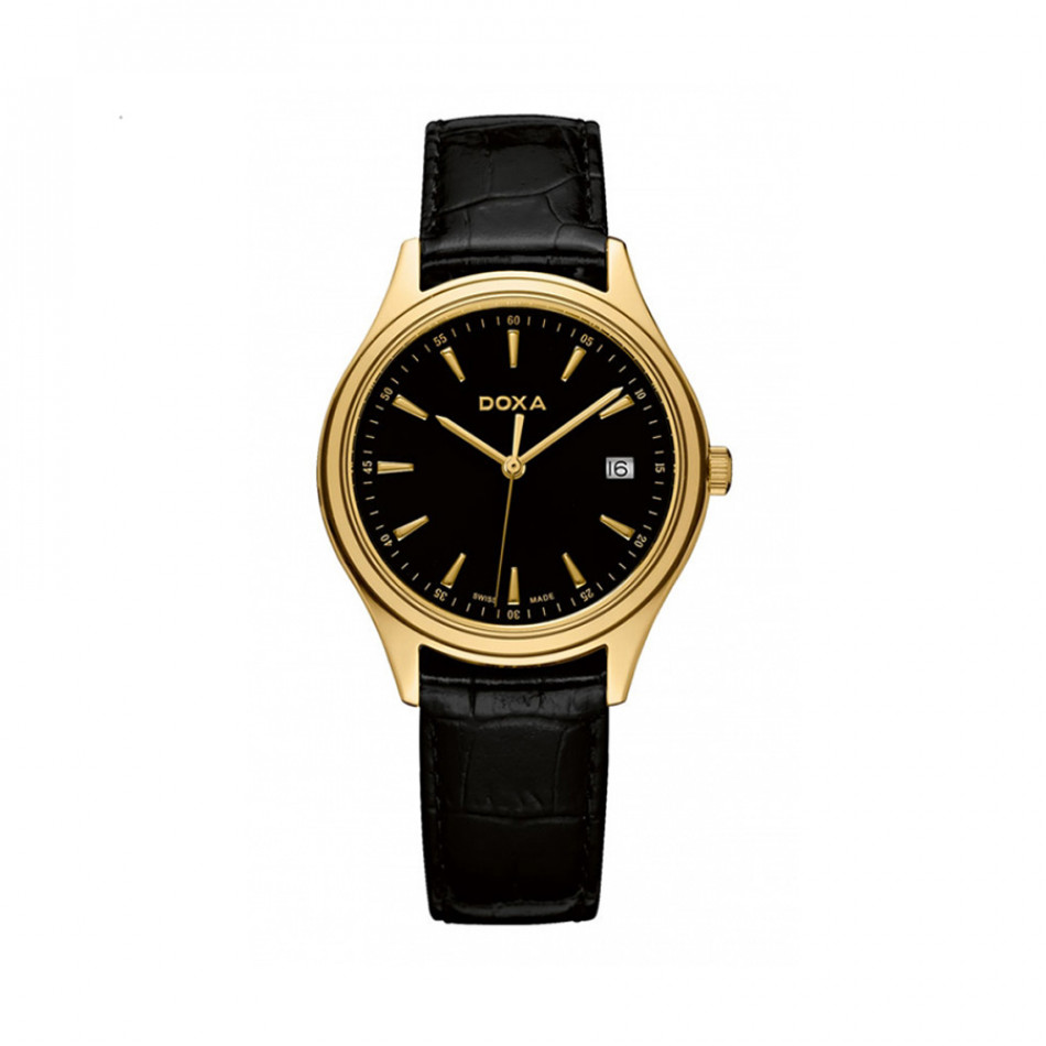 Ανδρικό ρολόι Doxa Tradition Gold Black Dial  2113010101