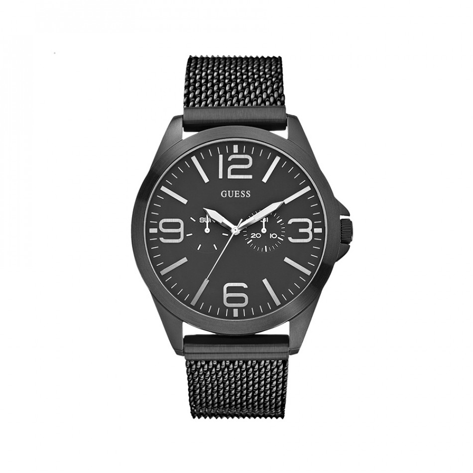 Ανδρικό ρολόι Guess Mesh Black Stainless Steel W0180G2 W0180G2