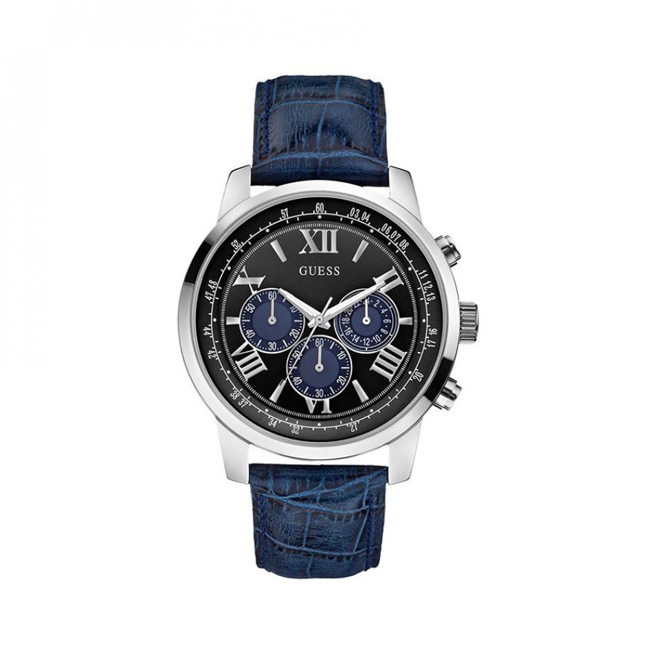 Ανδρικό ρολόι Guess Blue/Black Chronograph W0380G3 W0380G3