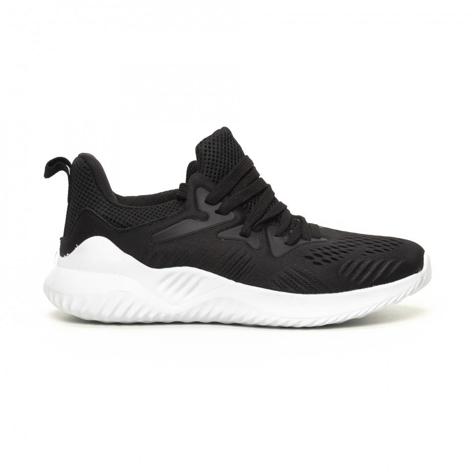 Ανδρικά μαύρα αθλητικά παπούτσια FM it200619-1