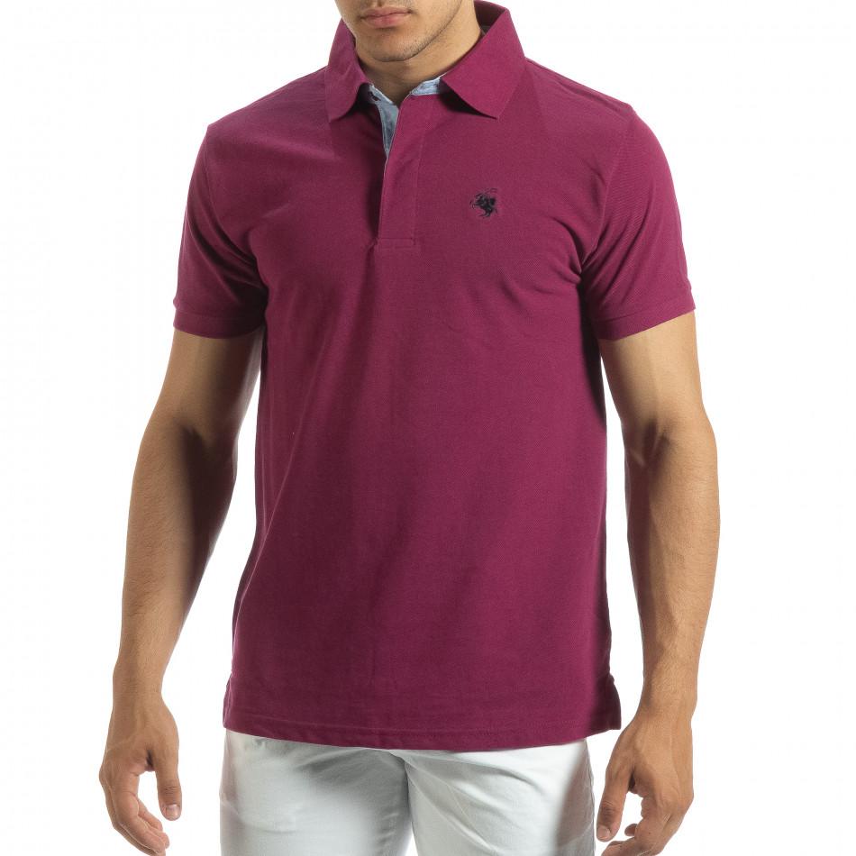 Ανδρική κόκκινη  polo shirt  it120619-30