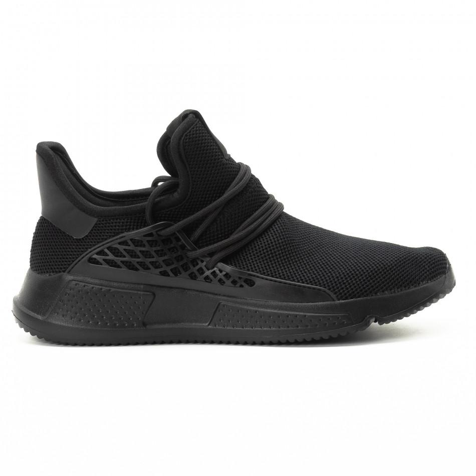 Ανδρικά μαύρα αθλητικά παπούτσια ελαφρύ μοντέλο it301118-7