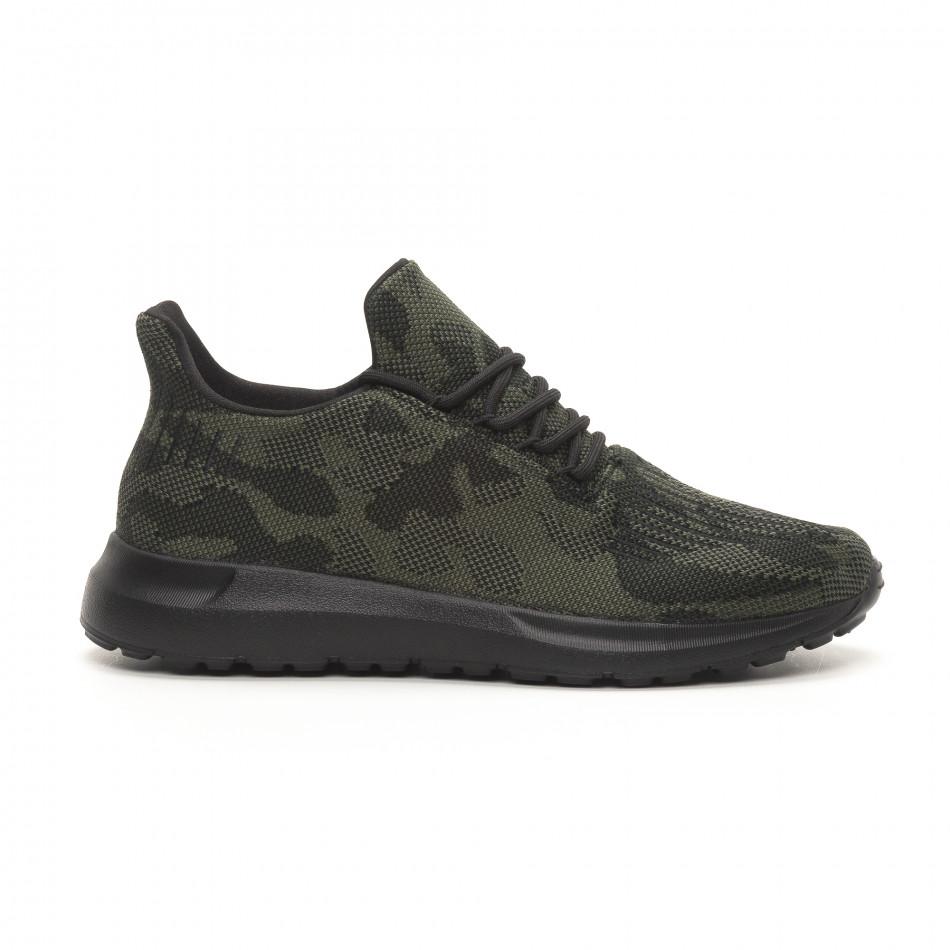 Ανδρικά πράσινα αθλητικά παπούτσια παραλλαγής it150419-120