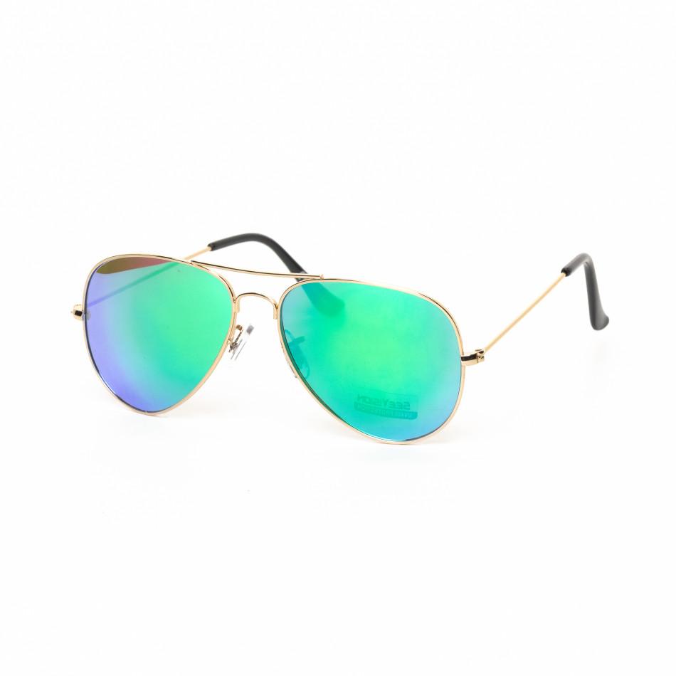 Ανδρικά πράσινα- γαλάζια γυαλιά ηλίου πιλότου it030519-4