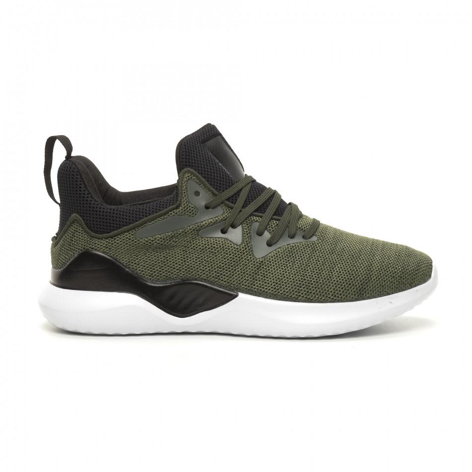 Ανδρικά πράσινα αθλητικά παπούτσια Kiss GoGo it060619-2