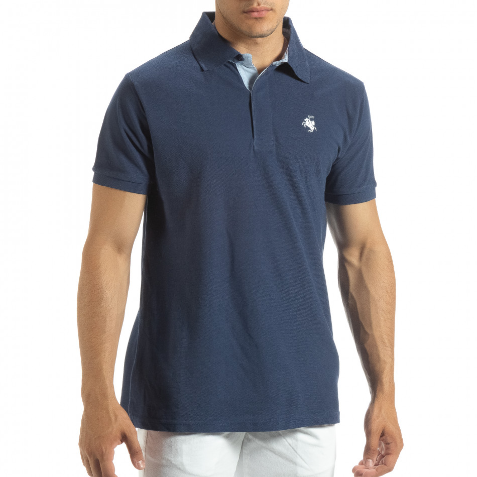 Ανδρική μπλέ  polo shirt  it120619-32