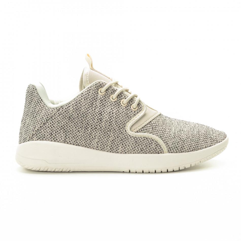 Ανδρικά μπεζ αθλητικά παπούτσια ελαφρύ μοντέλο it301118-3