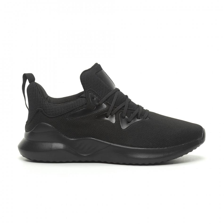 Ανδρικά μαύρα αθλητικά παπούτσια ελαφρύ μοντέλο it230519-5