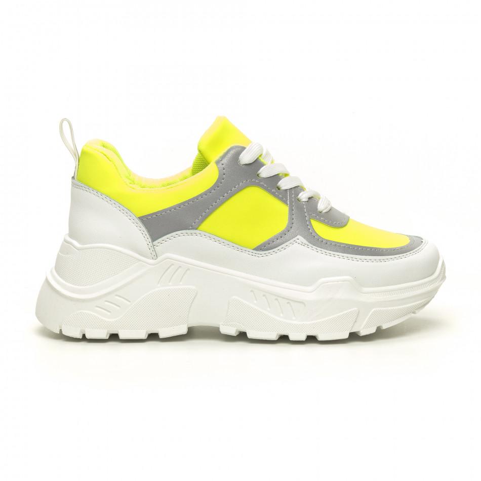 Γυναικεία Chunky πράσινα αθλητικά παπούτσια it050619-60