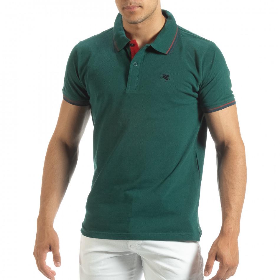Ανδρική πράσινη polo shirt  it120619-28