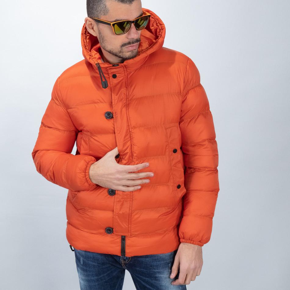 Ανδρικό πορτοκαλί χειμερινό μπουφάν  it051218-69
