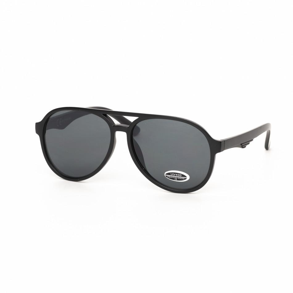 Ανδρικά μαύρα γυαλιά ηλίου πιλότου it030519-33