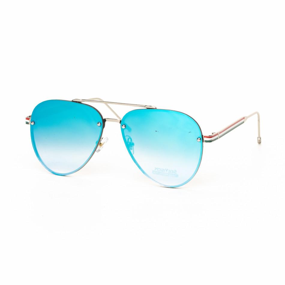 Ανδρικά γαλάζια γυαλιά ηλίου πιλότου it030519-7