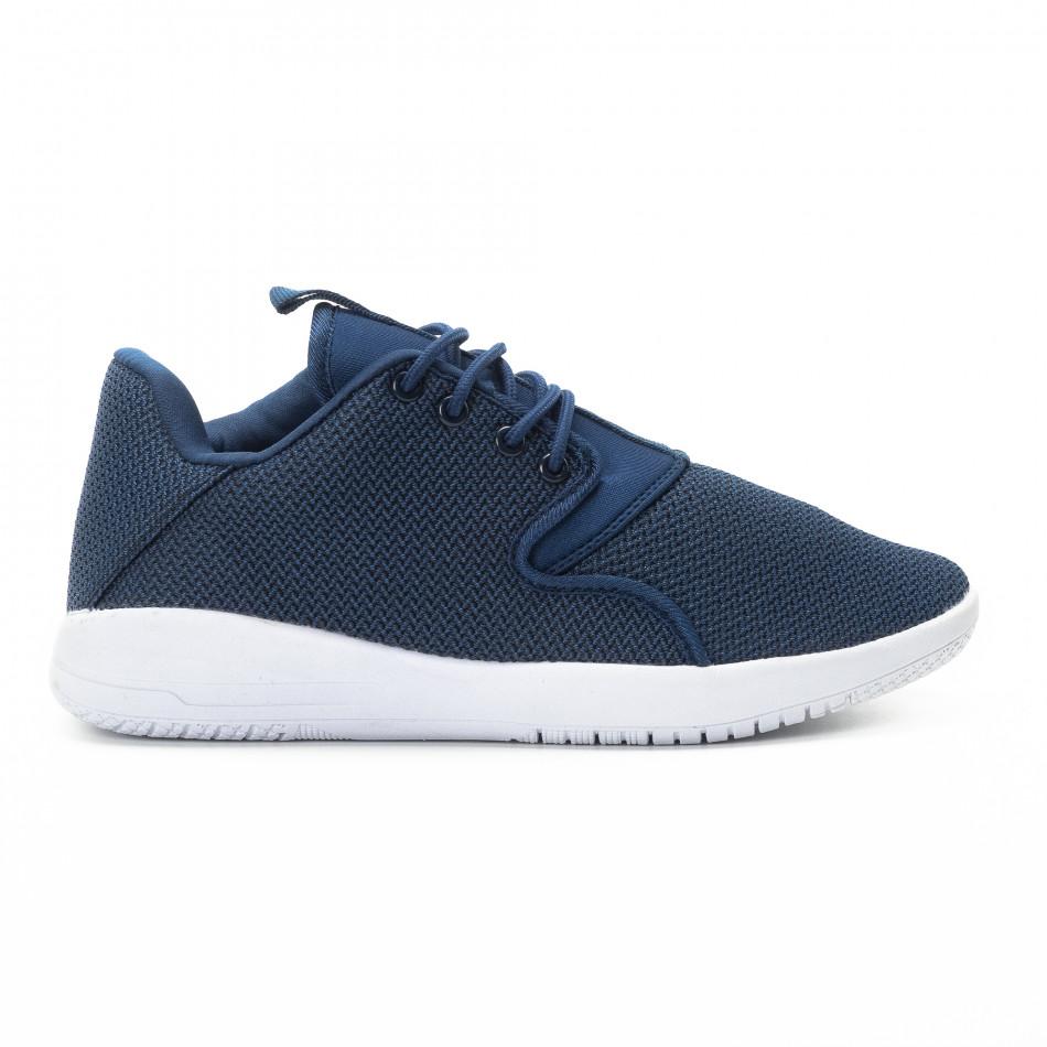 Ανδρικά μπλε αθλητικά παπούτσια ελαφρύ μοντέλο it301118-2