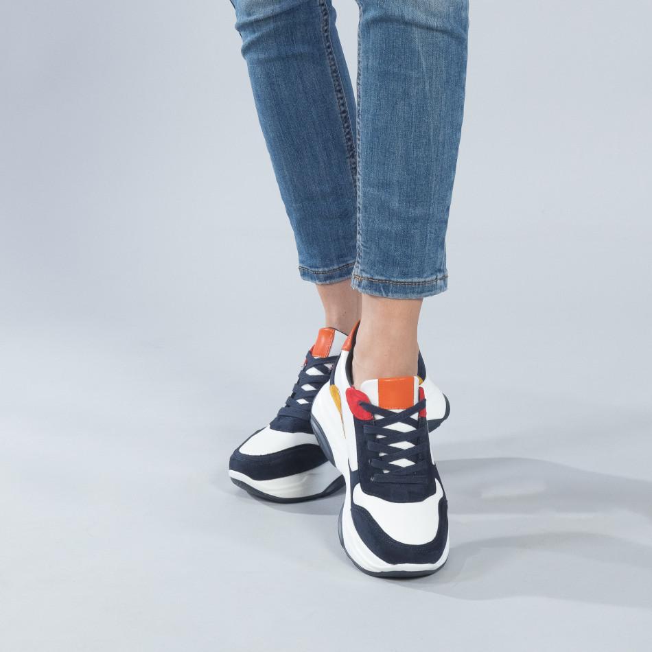 Γυναικεία πολύχρωμα sneakers με πλατφόρμα it250119-49