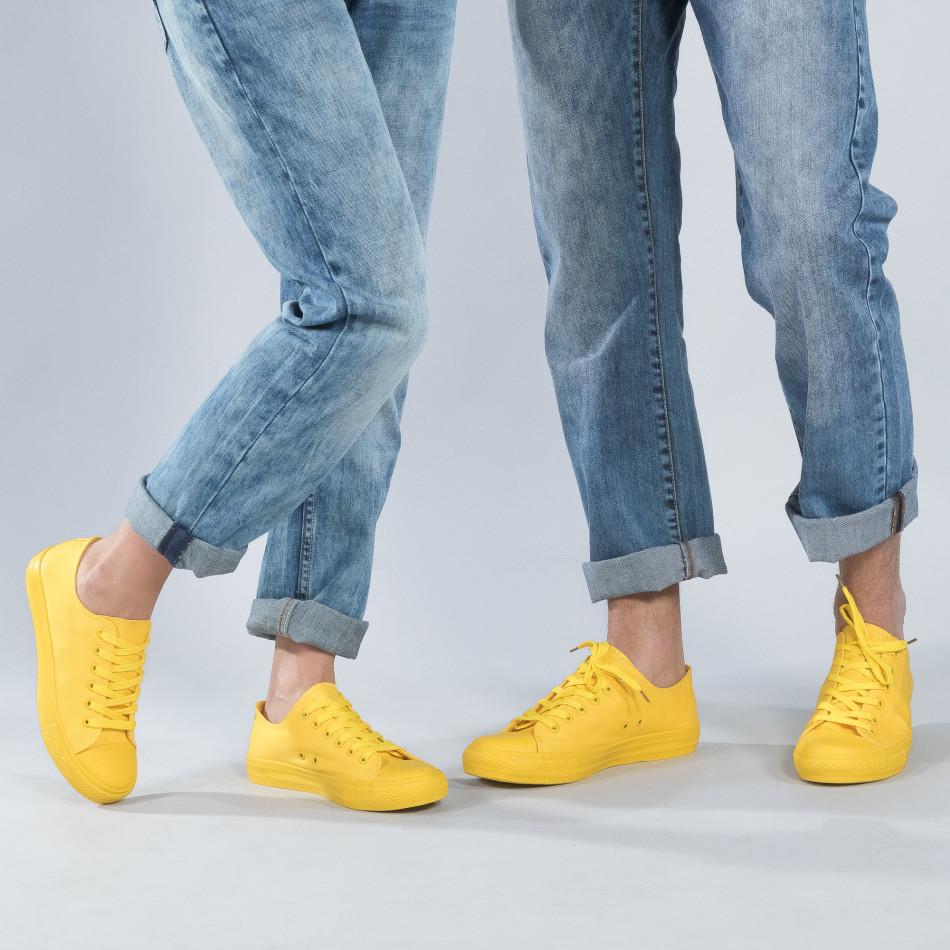 Φανταχτερά κίτρινα sneakers για ζευγάρια cs-yellow-B340-B338