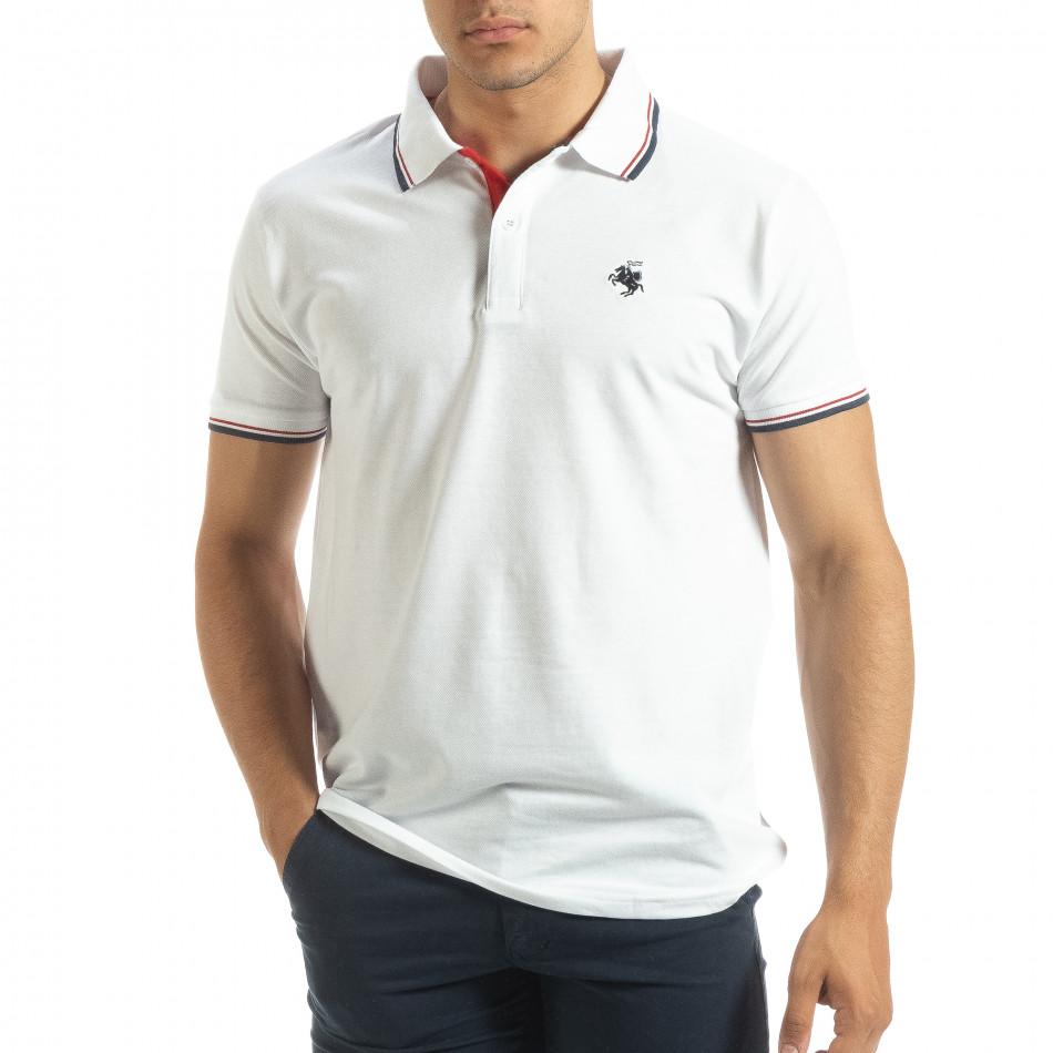 Ανδρική λευκή  polo shirt  it120619-26