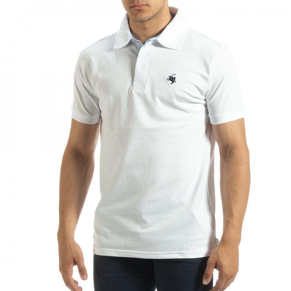 Ανδρική λευκή  polo shirt it120619-29
