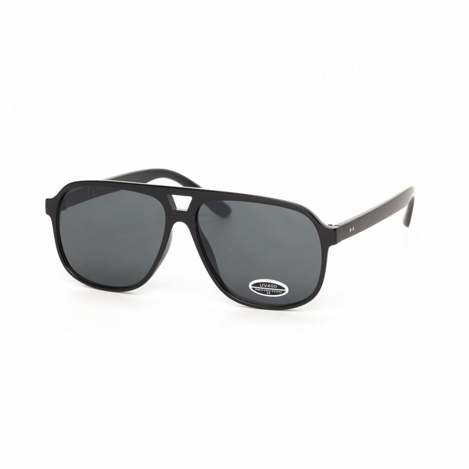 Ανδρικά κλασικά μαύρα γυαλιά ηλίου it030519-39