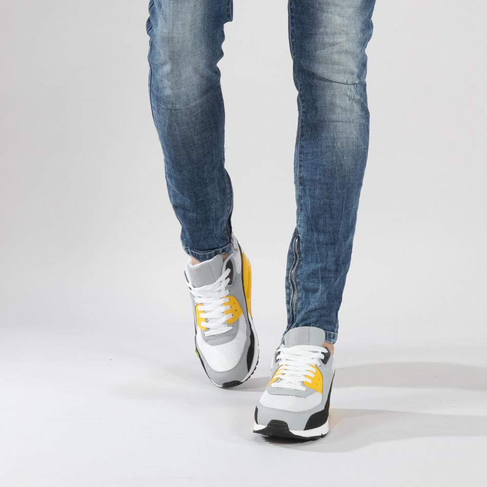Ανδρικά πολύχρωμα αθλητικά παπούτσια με αερόσολα it150319-21