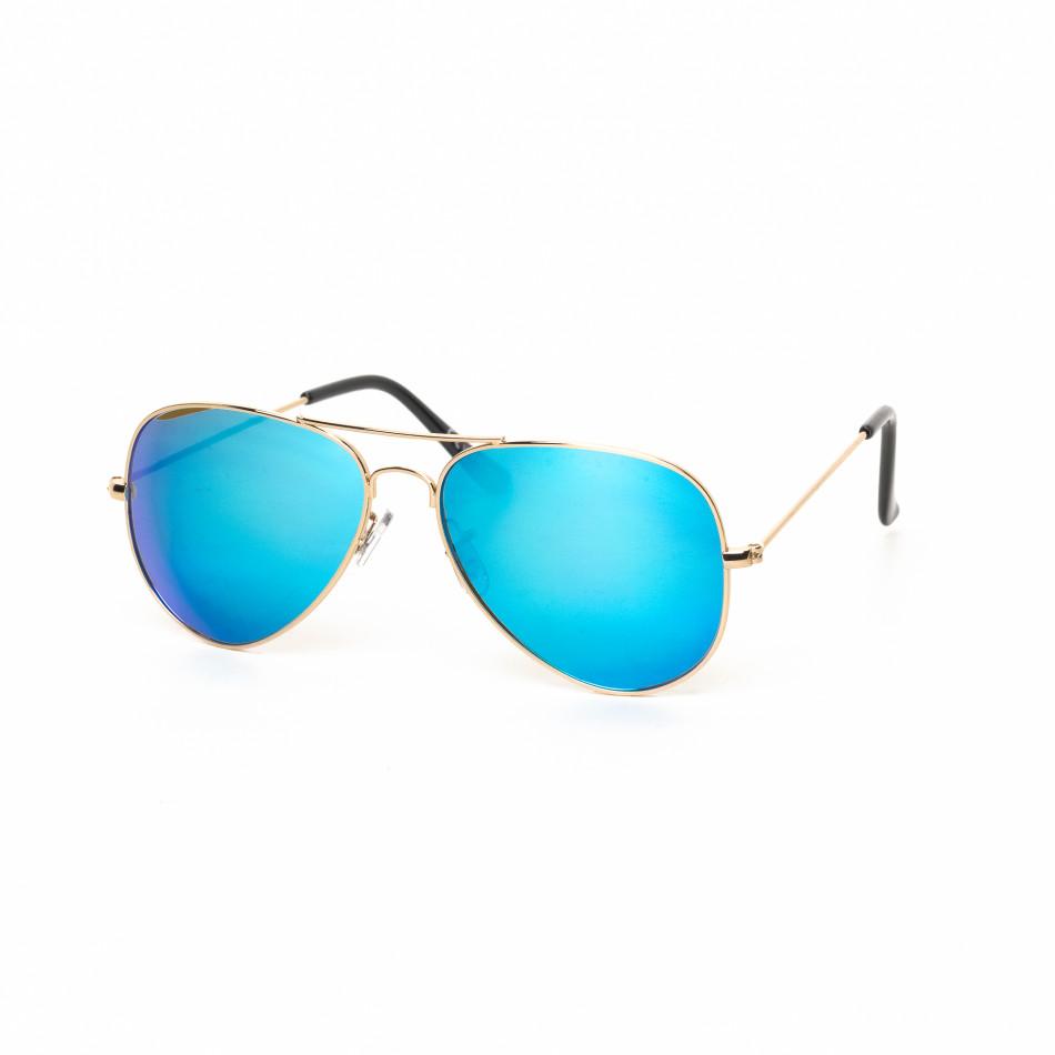 Ανδρικά γαλάζια γυαλιά ηλίου πιλότου it030519-3