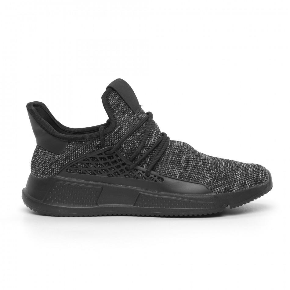Ανδρικά μαύρα αθλητικά παπούτσια Kiss GoGo it260520-1
