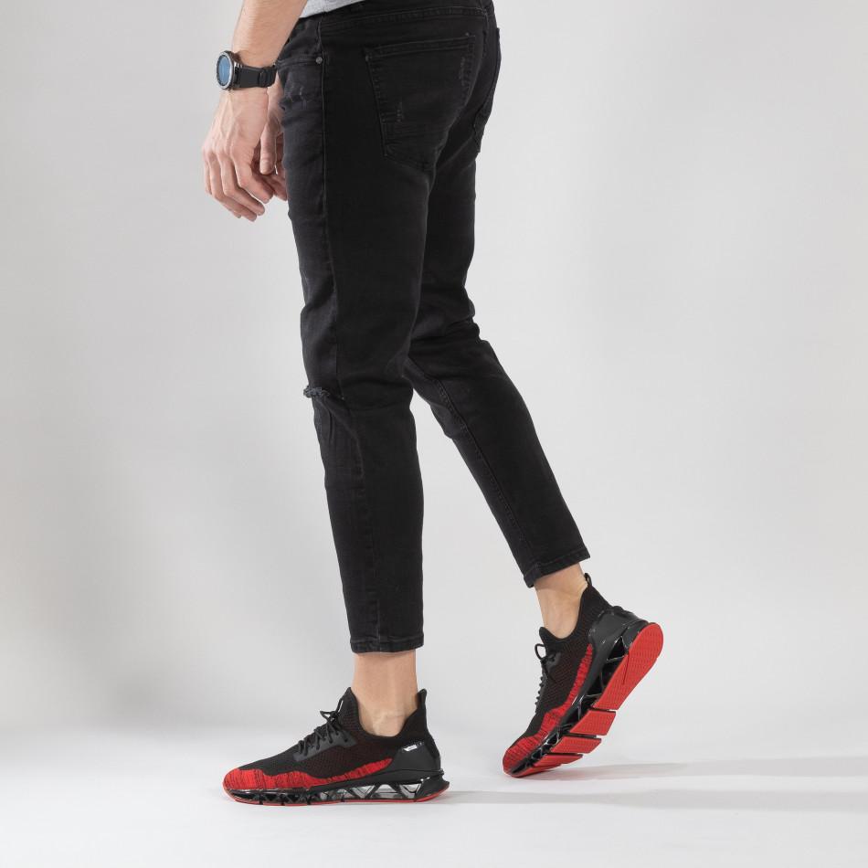 Ανδρικά κόκκινα αθλητικά παπούτσια Knife ελαφρύ μοντέλο it150319-25