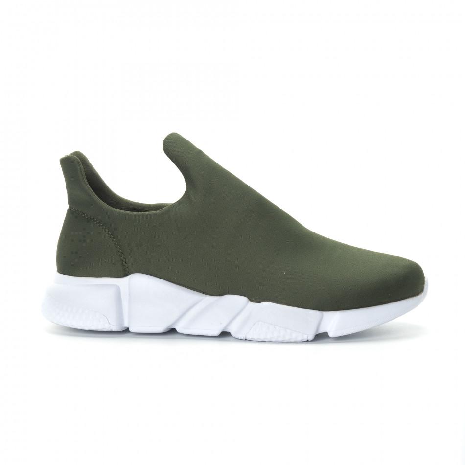 Ανδρικά πράσινα νεοπρέν αθλητικά παπούτσια Slip-on it270219-1