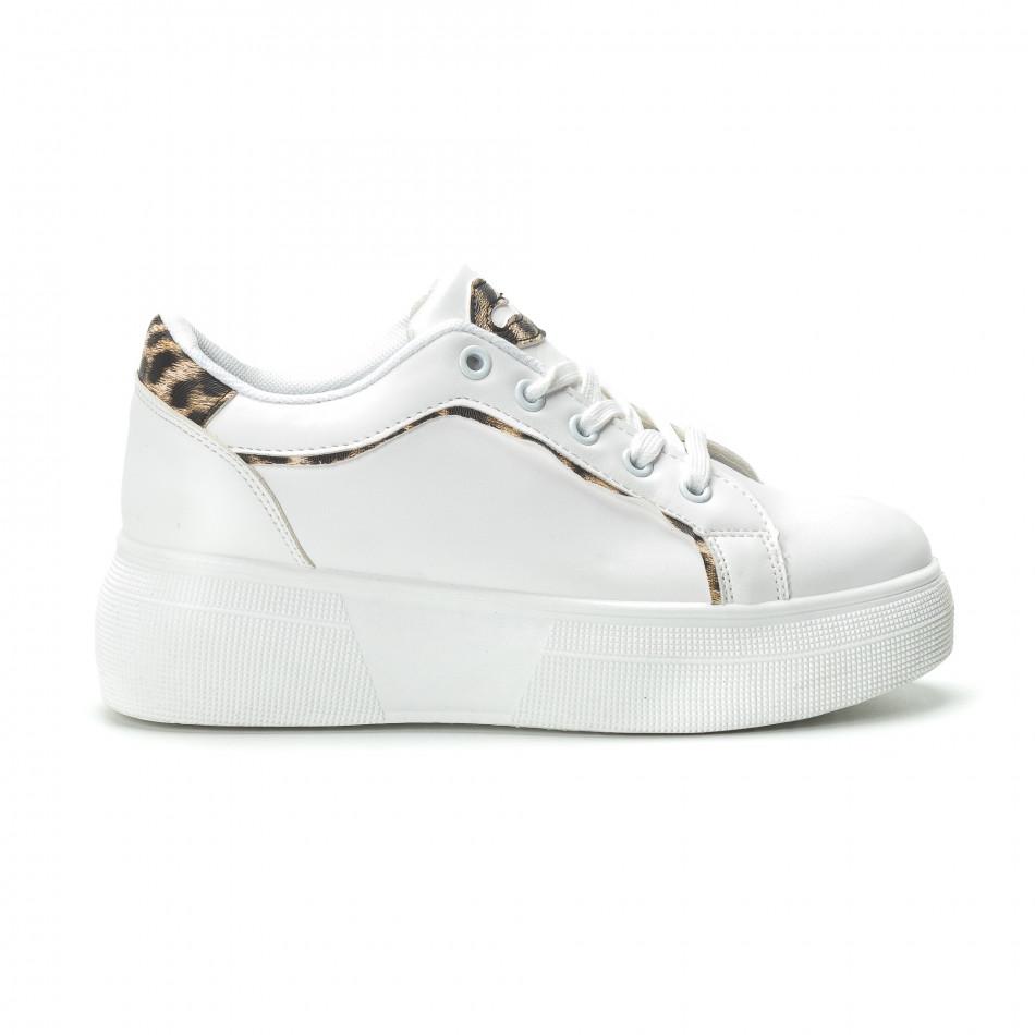 Γυναικεία λευκά sneakers Animal print it250119-69