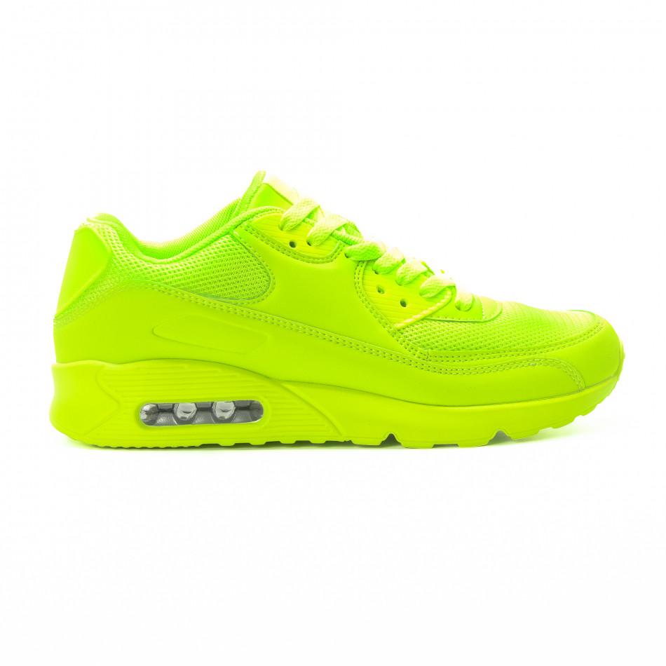 Ανδρικά πράσινα αθλητικά παπούτσια με αερόσολα it301118-1