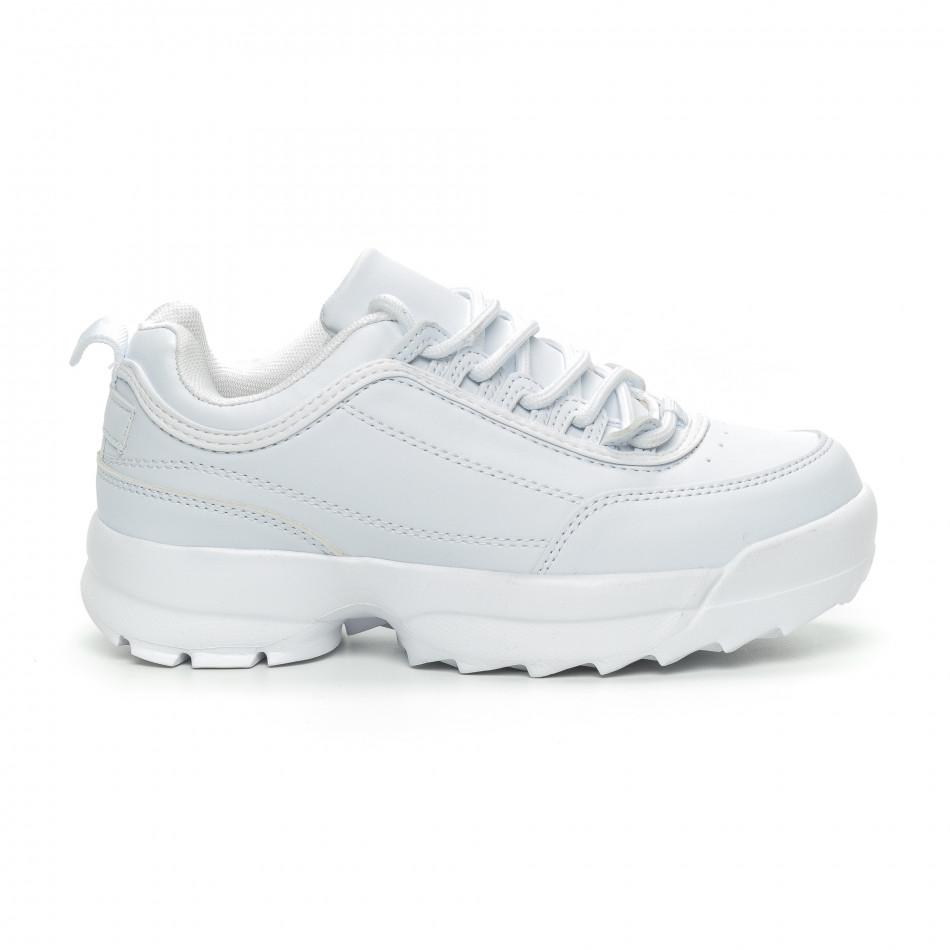 Γυναικεία λευκά αθλητικά παπούτσια Chunky it150319-52