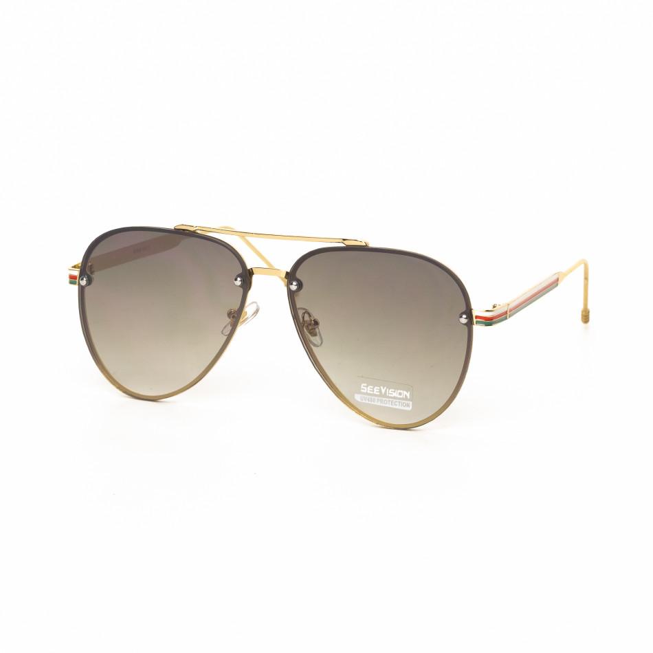 Ανδρικά καφέ γυαλιά ηλίου πιλότου it030519-8