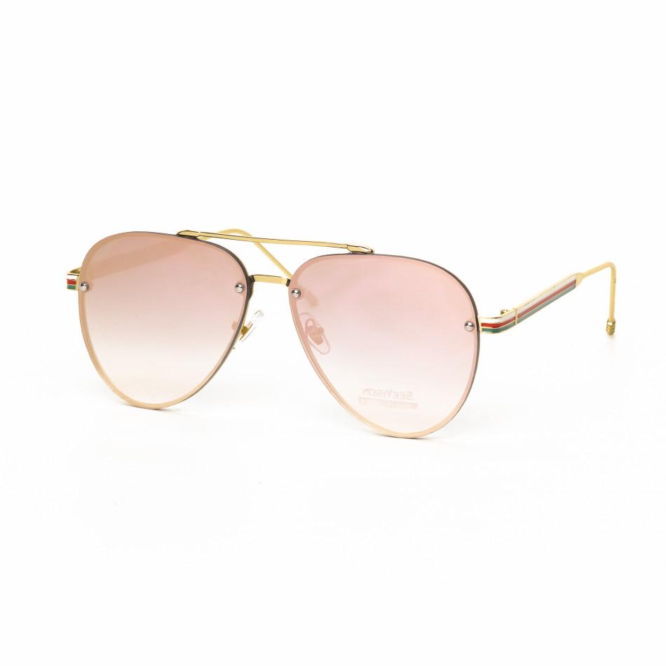 Ανδρικά ροζ γυαλιά ηλίου πιλότου it030519-5