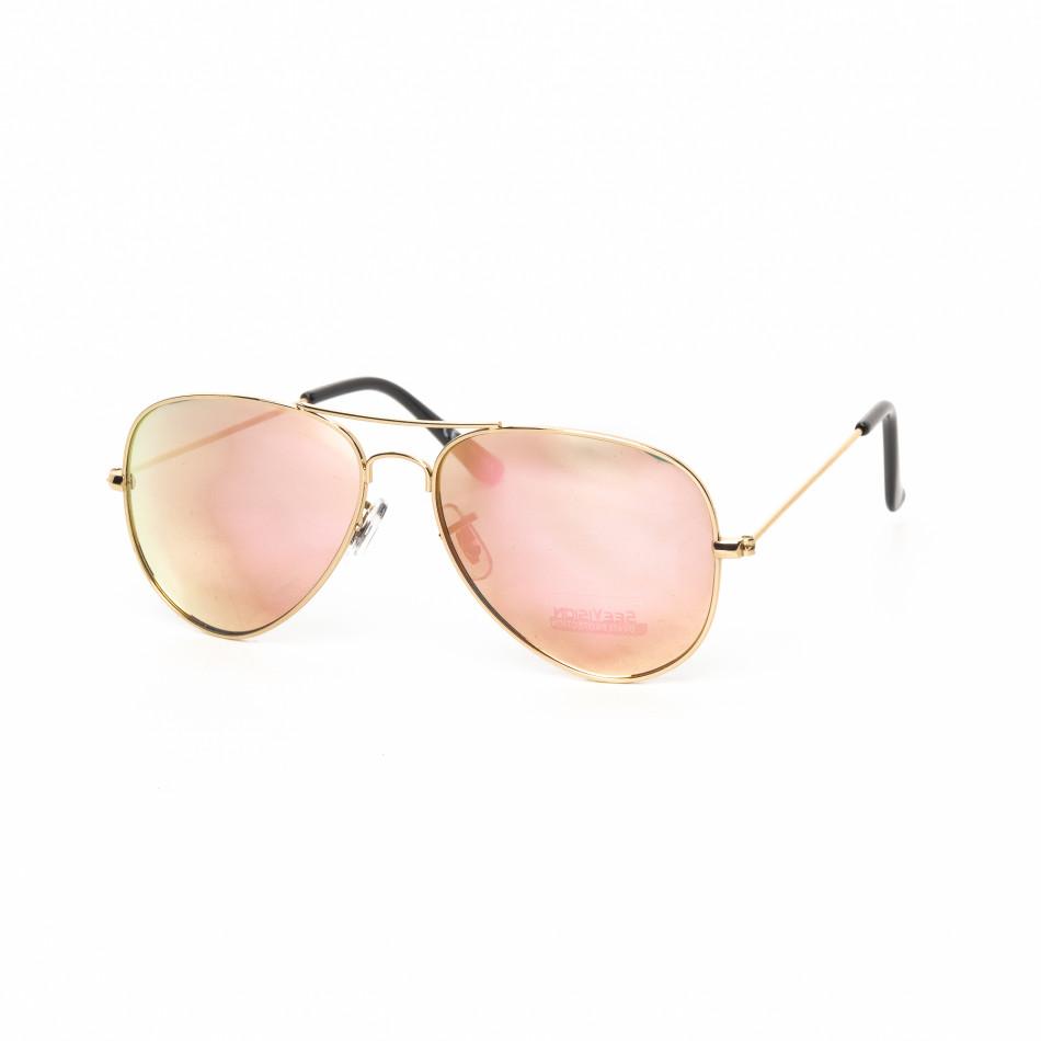 Ανδρικά ροζ γυαλιά ηλίου πιλότου it030519-1