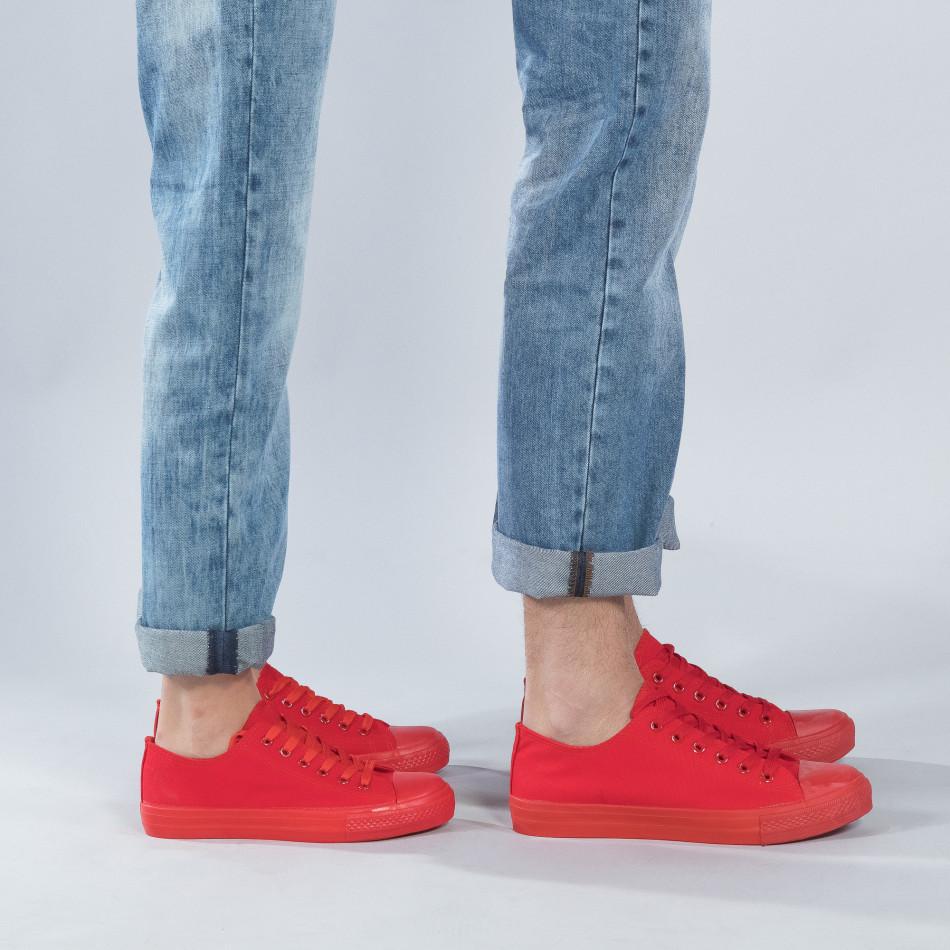Χαμηλά κόκκινα sneakers για ζευγάρια cs-red-B340-B338