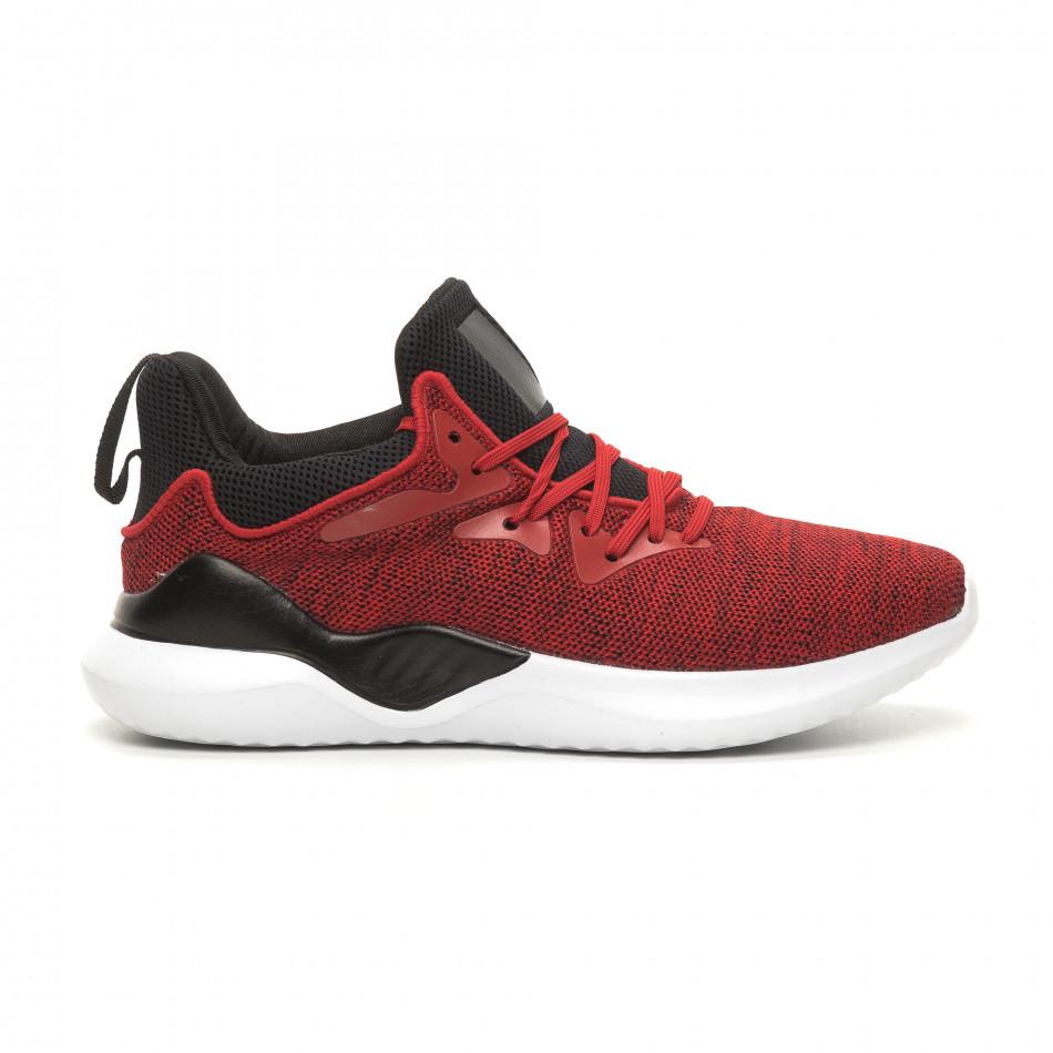 Ανδρικά κόκκινα αθλητικά παπούτσια Kiss GoGo it060619-1