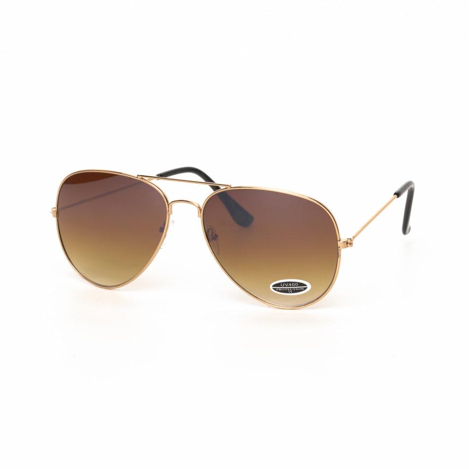 Ανδρικά καφέ γυαλιά ηλίου πιλότου it030519-16