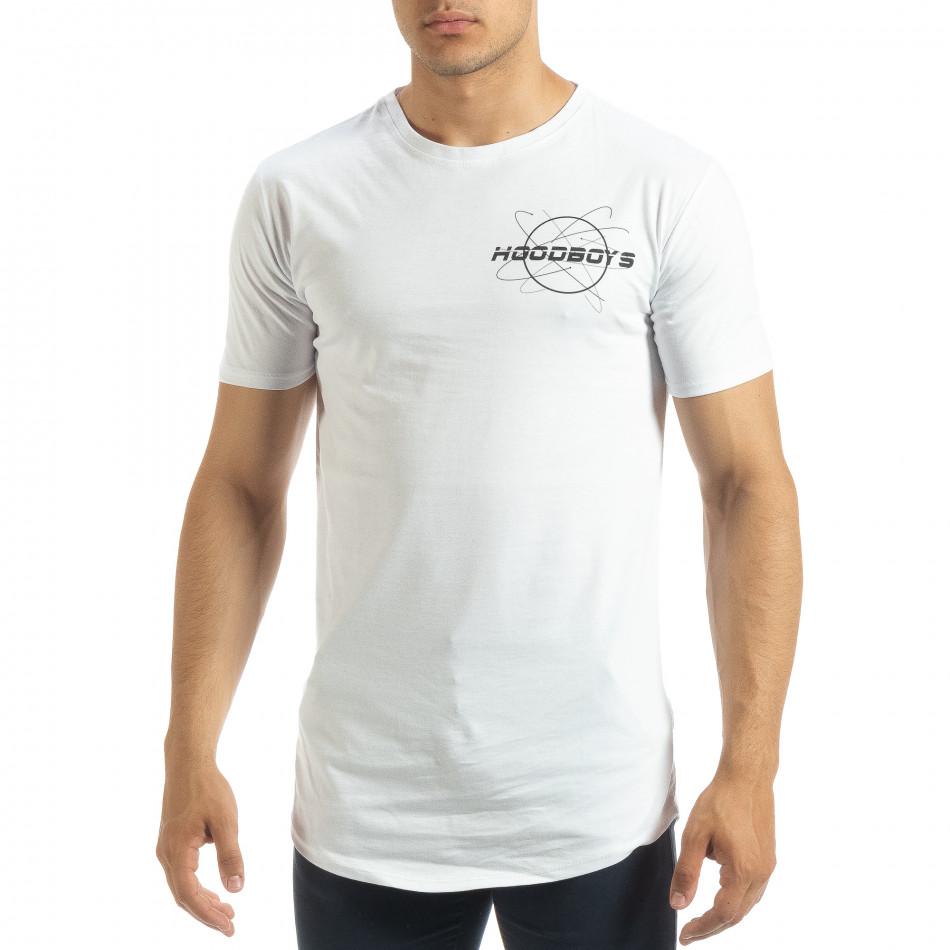 Ανδρική λευκή κοντομάνικη μπλούζα Off The Limit it120619-43