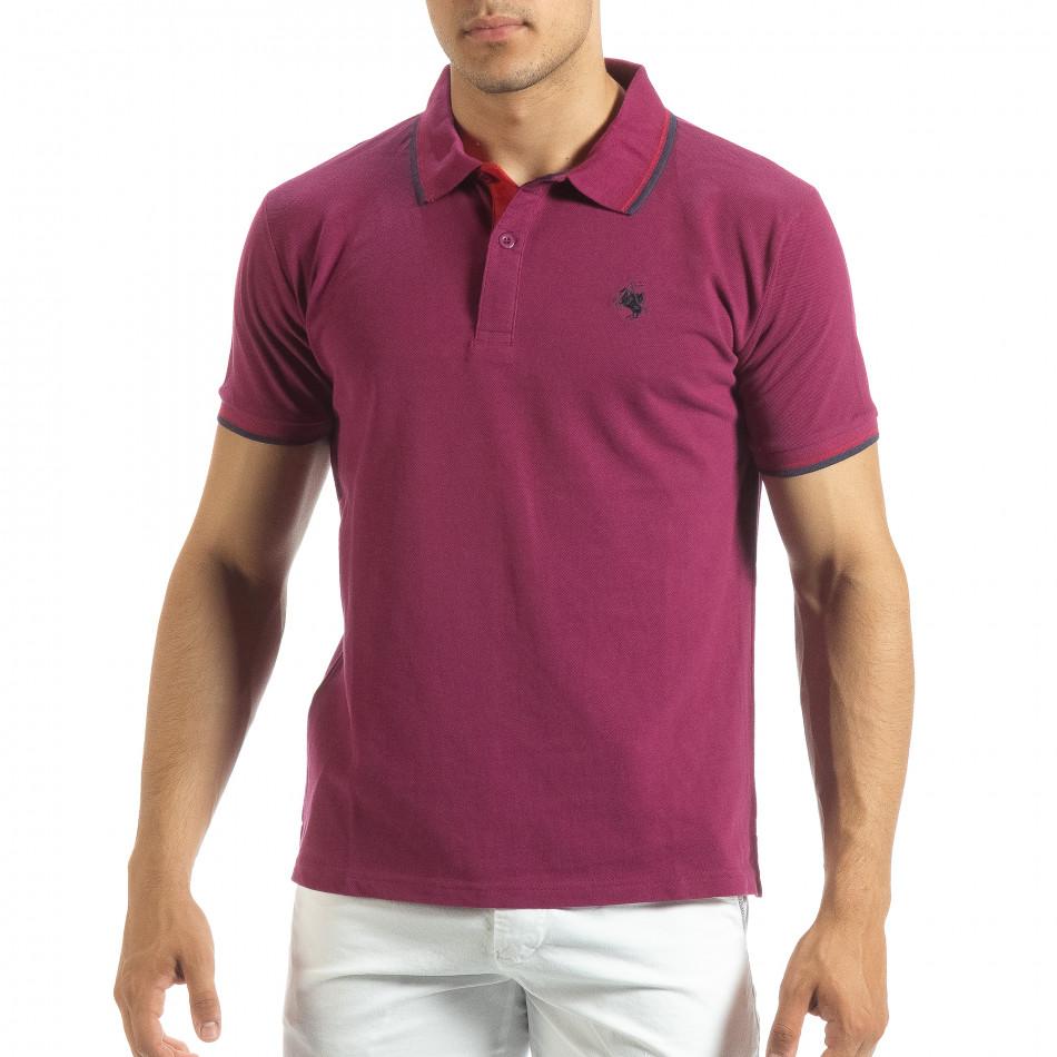 Ανδρική κόκκινη polo shirt  it120619-27