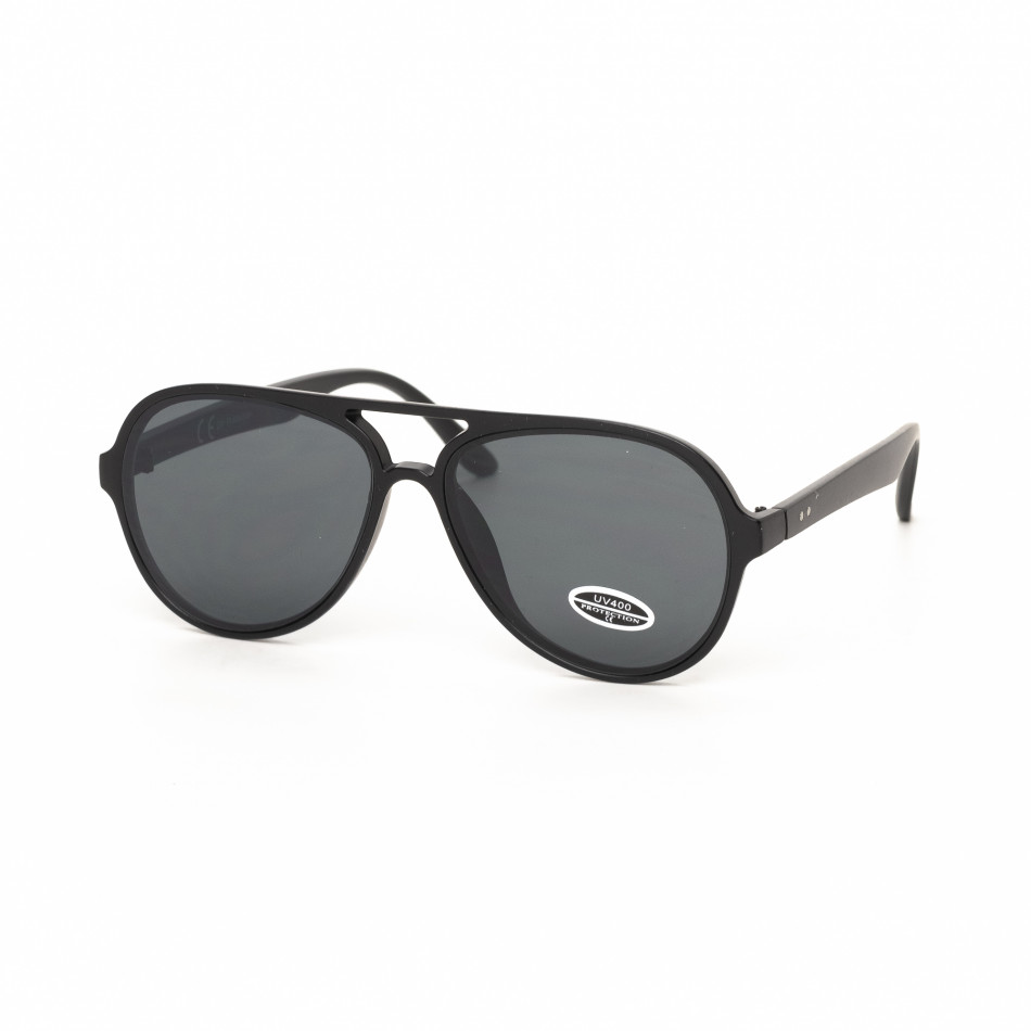 Ανδρικά μαύρα γυαλιά ηλίου πιλότου it030519-28
