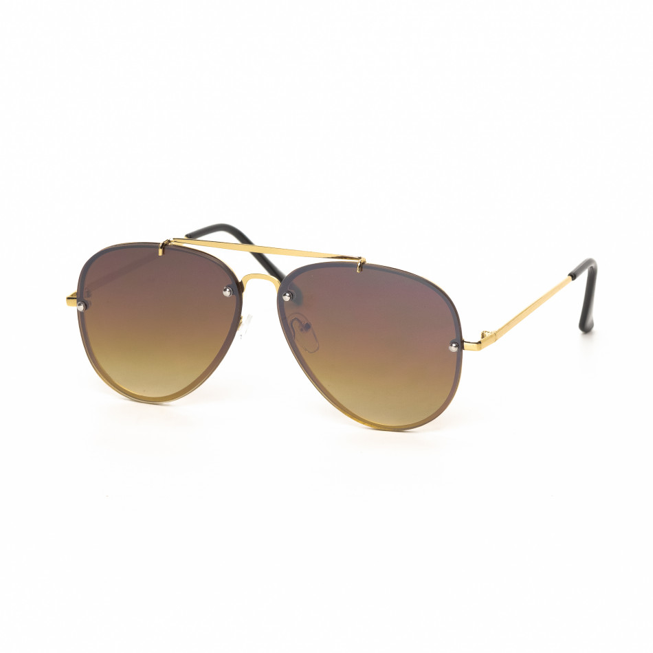 Ανδρικά καφέ γυαλιά ηλίου πιλότου it030519-12