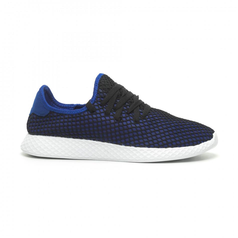 Ανδρικά μπλε αθλητικά παπούτσια Mesh ελαφρύ μοντέλο it230519-2