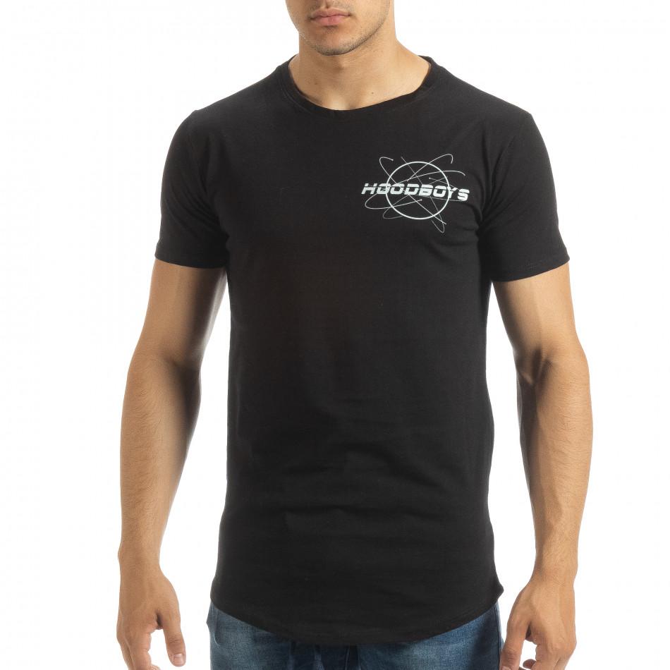 Ανδρική μαύρη κοντομάνικη μπλούζα Off The Limit it120619-42