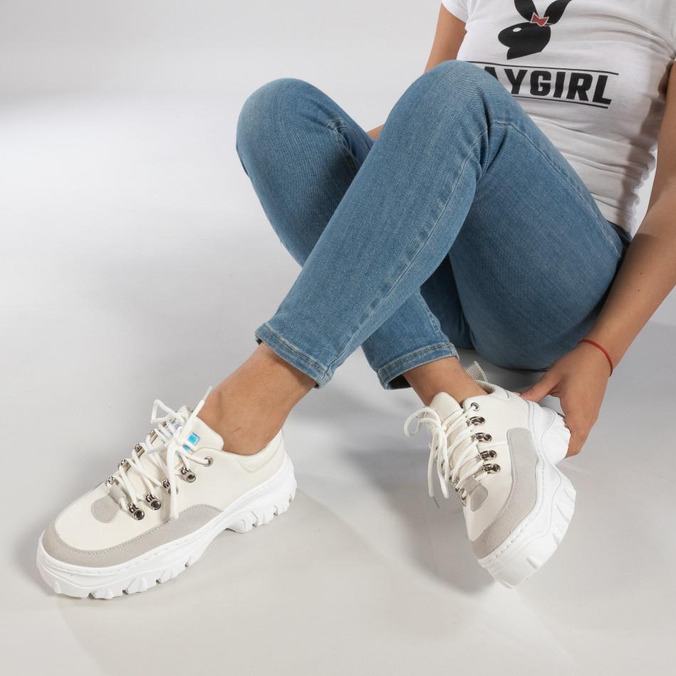 Γυναικεία λευκά αθλητικά παπούτσια   it150319-58