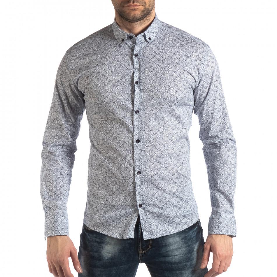 Ανδρικό λευκό πουκάμισο Baros it210319-91