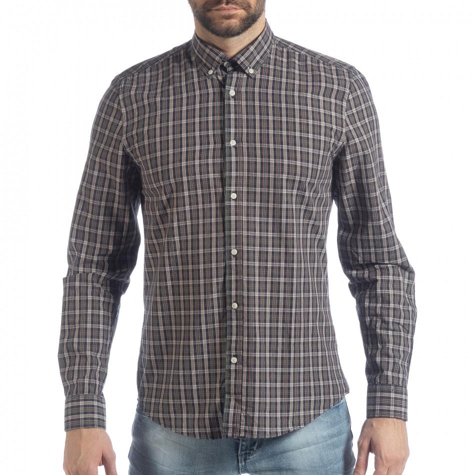Ανδρικό καρέ πουκάμισο Slim fit Casual it040219-125